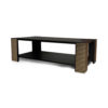 Pharo Rectangular Coffee Table Black Lacquer with Brass Strips 6