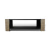 Pharo Rectangular Coffee Table Black Lacquer with Brass Strips 10
