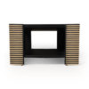Pharo Rectangular Coffee Table Black Lacquer with Brass Strips 9
