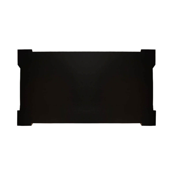 Pharo Rectangular Coffee Table Black Lacquer with Brass Strips 2