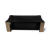 Pharo Rectangular Coffee Table Black Lacquer with Brass Strips 7
