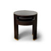 Rosa Oval Glass Top Bedside Table 1