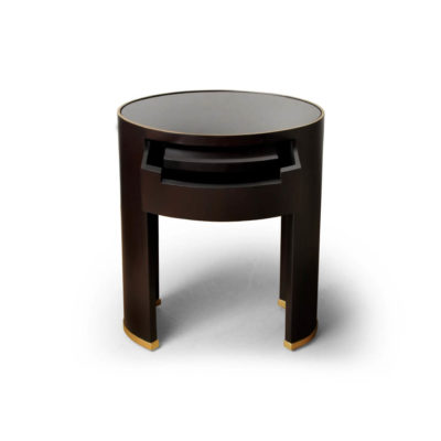 Rosa Oval Glass Top Bedside Table