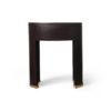 Rosa Oval Glass Top Bedside Table 2