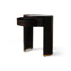 Rosa Oval Glass Top Bedside Table 4