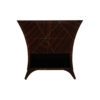Sahco Dark Brown Curved Bedside Table with Open Shelf 1