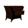 Sahco Dark Brown Curved Bedside Table with Open Shelf 3