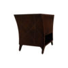 Sahco Dark Brown Curved Bedside Table with Open Shelf 2