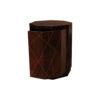 Drue Wooden Dark Brown Bedside Table 2