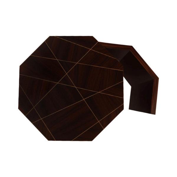 Drue Wooden Dark Brown Bedside Table Top