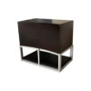 Dusk Two Drawers Wood and Stainless Steel Bedside Table 1