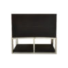 Dusk Two Drawers Wood and Stainless Steel Bedside Table 3