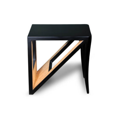 Jayden Square Black Lacquer Side Table