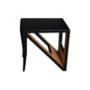 Jayden Square Black Lacquer Side Table 3