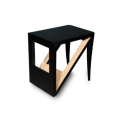 Jayden Square Black Lacquer Side Table View