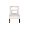 Mario Upholstered Square Armless Accent Chair 1