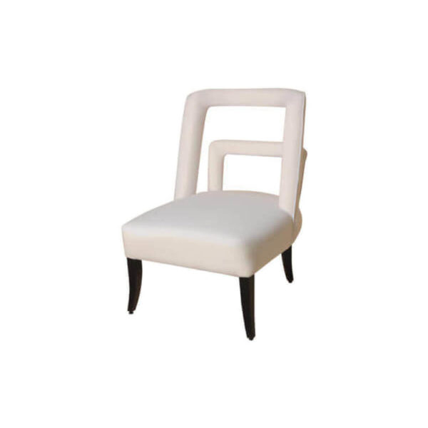 Mario Upholstered Square Armless Accent Chair Side View