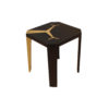 Tree Square Wood and Steel Side Table 5