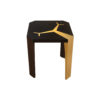 Tree Square Wood and Steel Side Table 4