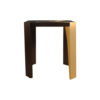 Tree Square Wood and Steel Side Table 3