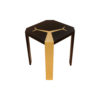 Tree Square Wood and Steel Side Table 2