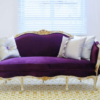 french style sofa with cushions