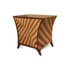 Sahco Curved Brown and Beige Bedside Table