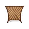 Sahco Curved Brown and Beige Bedside Table 2