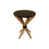 BonBon Dark Brown and Gold Cross Leg Round Side Table 1