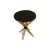 BonBon Dark Brown and Gold Cross Leg Round Side Table 3