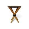 BonBon Dark Brown and Gold Cross Leg Round Side Table 2