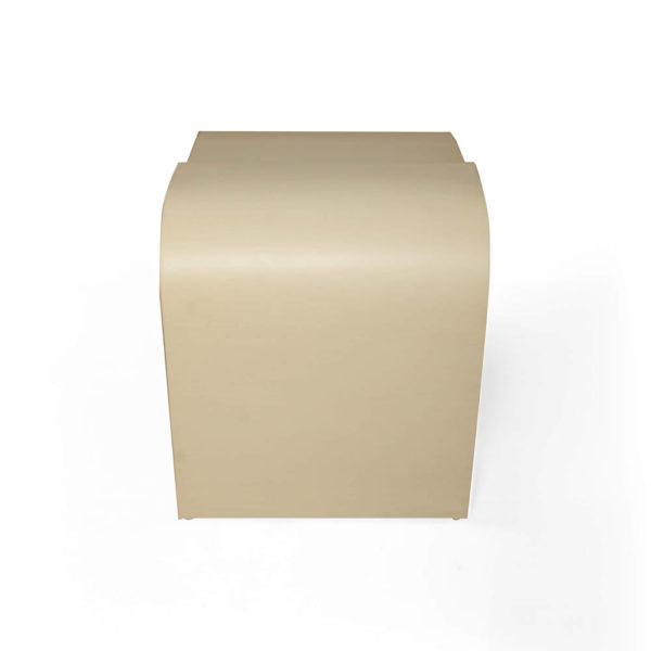 Bono Rectangular Cream Side Table Right