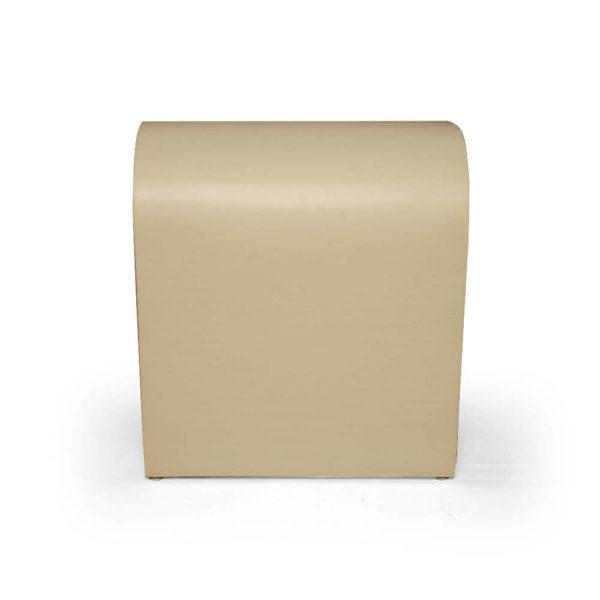 Bono Rectangular Cream Side Table Right View
