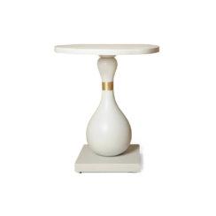 Cinnabar Grey Round Side Table