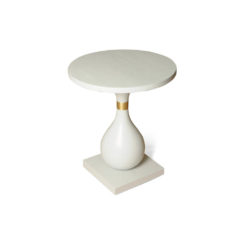 Cinnabar Grey Round Side Table Top View
