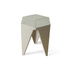 Diamond Grey Distressed Hexagonal Side Table