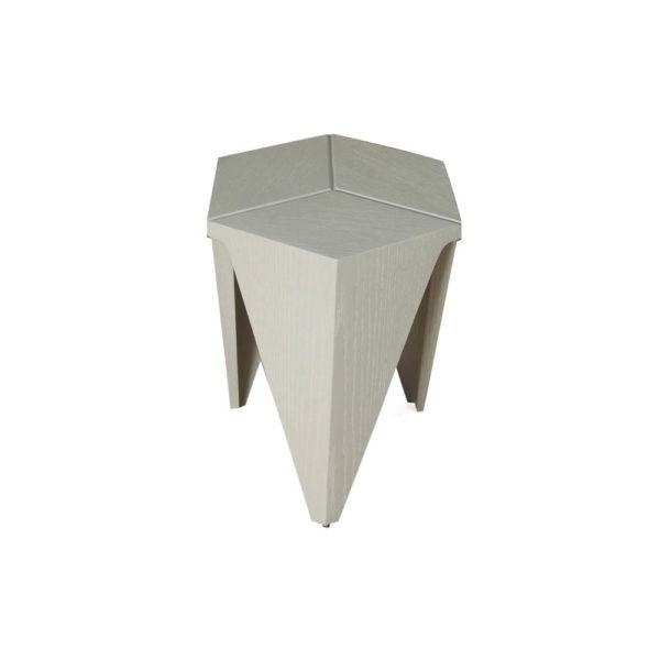 Diamond Grey Distressed Hexagonal Side Table Beside View