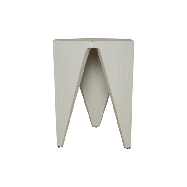 Diamond Grey Distressed Hexagonal Side Table Front