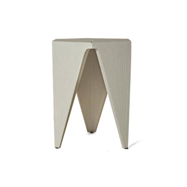 Diamond Grey Distressed Hexagonal Side Table Side