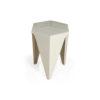 Diamond Grey Distressed Hexagonal Side Table 4