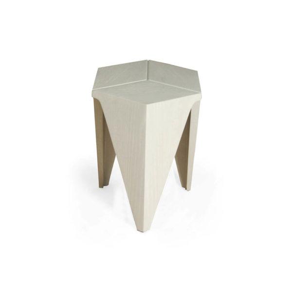 Diamond Grey Distressed Hexagonal Side Table Side View