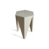 Diamond Grey Distressed Hexagonal Side Table 2