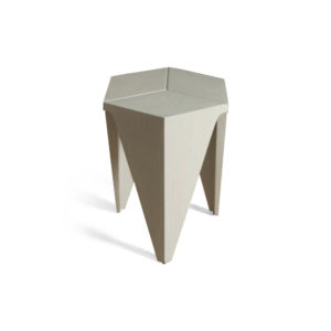 Diamond Grey Distressed Hexagonal Side Table View