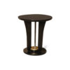 Fido Black Wooden Distressed Side Table 1