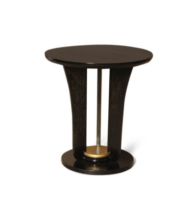Fido Black Wooden Distressed Side Table