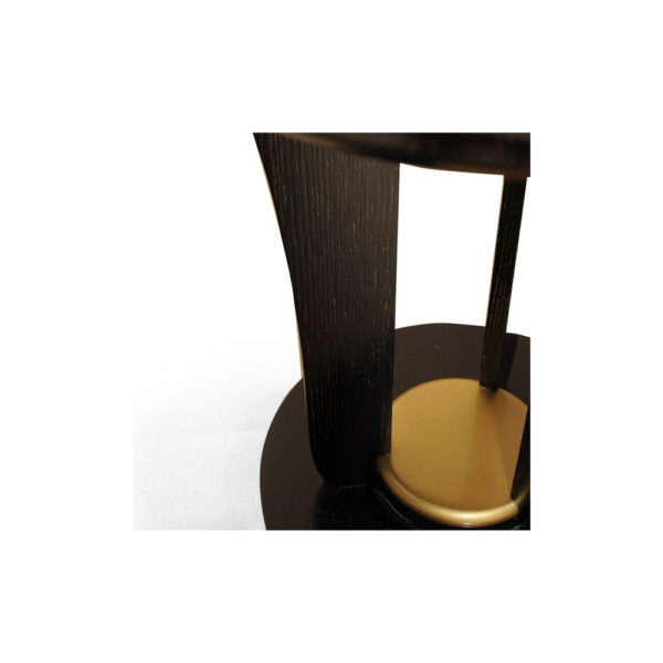 Fido Black Wooden Distressed Side Table Details