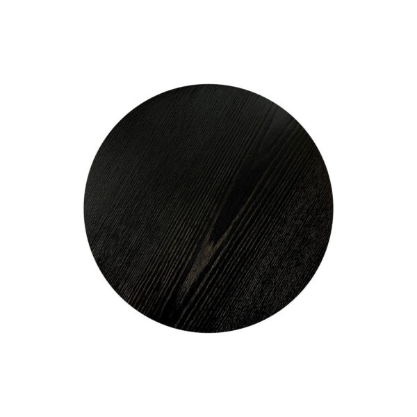 Fido Black Wooden Distressed Side Table Top