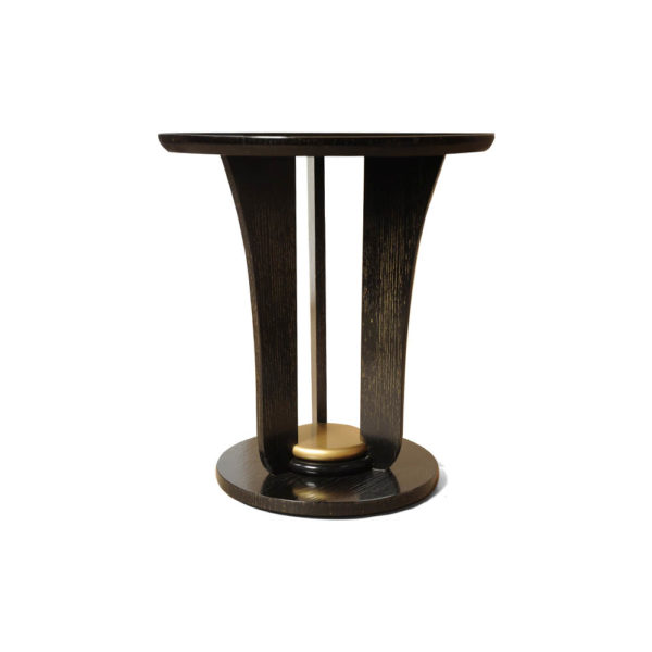 Fido Black Wooden Distressed Side Table View