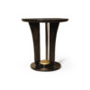 Fido Black Wooden Distressed Side Table 2