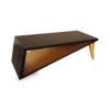 Jayden Brown Wooden Coffee Table with Golden Legs 5